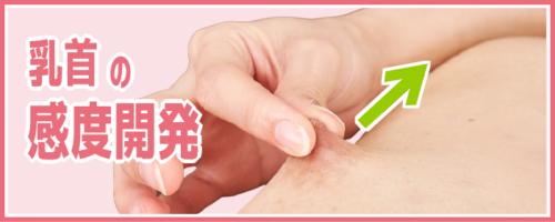 乳首の感度開発方法