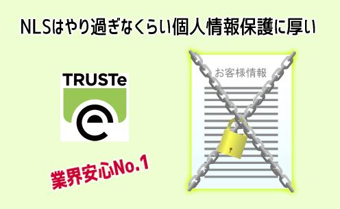 NLSの個人情報保護のレベル