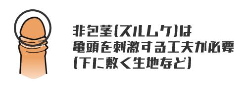 非包茎(ズルムケ)の床オナ注意点
